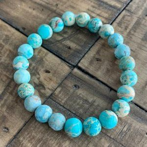 8mm Matte Blue Jasper Chakra Stretch Bracelet